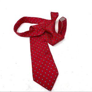 Christian Dior red silk tie